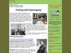 ernest hemingway biography worksheet fishing with hemingway lesson plan for 8th 12th grade