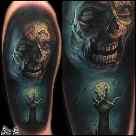 shoulder tattoo horror zombie best tattoo ideas gallery