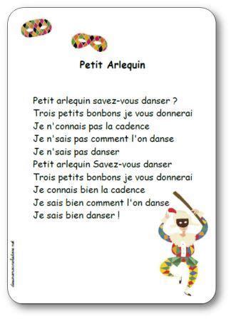 Comptine Petit Arlequin Paroles Illustr 233 Es Quot Petit