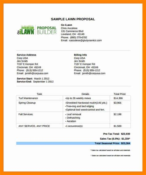 Lawn Care Bid Template Best Of Lawn Care Estimate Form Amitdhull Lawn Care Bid Sheet Template