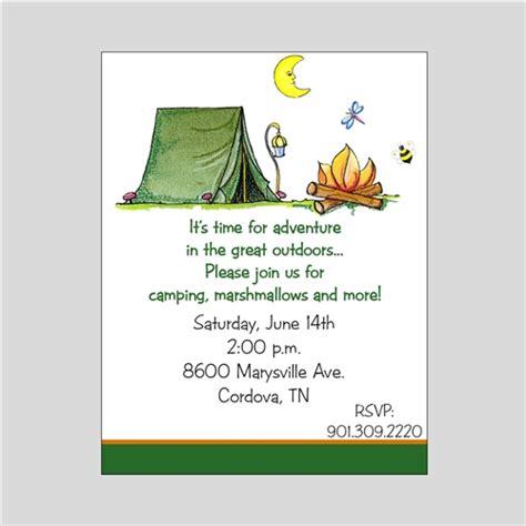 gift bag templates free printable camping party invitations