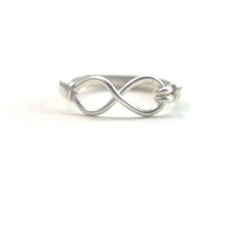 Handmade Eternity Rings - silver eternity ring handmade wire wrapped infinity symbol
