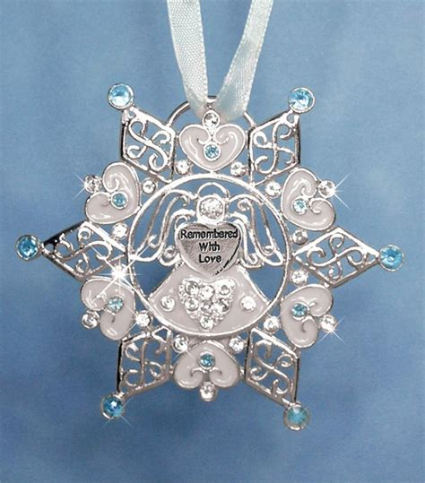 treasured remembrance snowflake ornament
