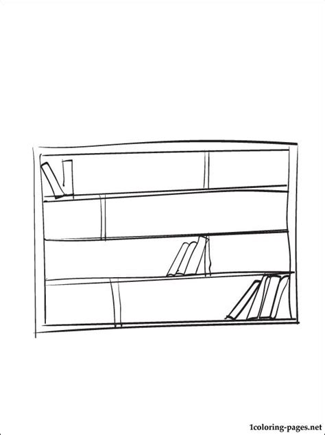 coloring pages bookshelves bookcase coloring page coloring pages