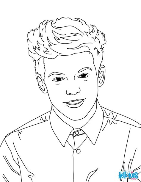 coloring pages for one direction louis tomlinson coloring pages hellokids
