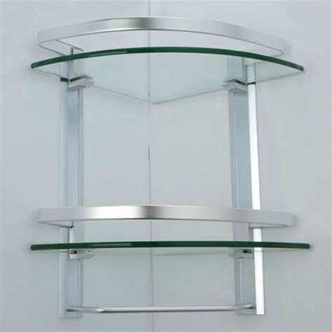 Bathroom Glass Corner Shelves Shower by Kes Bathroom 2 Tier Corner Glass Shelf With Wide Rail And
