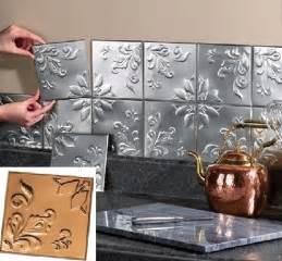 metal tin silver copper peel and stick kitchen backsplash