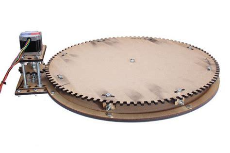lasercut motorized turntable   degree object