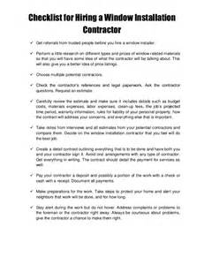 Installation Contract Template by Revisions Remodeling Guide Hire A Window Installation