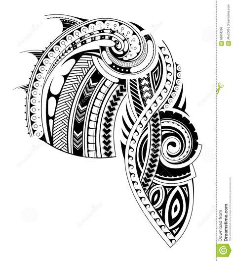 tattoo chest template maori style sleeve tattoo template stock vector image