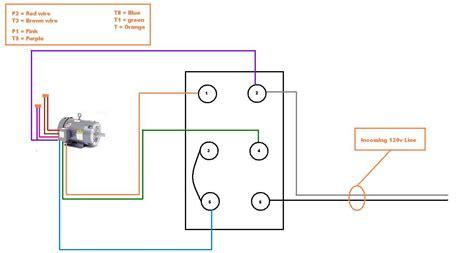 wiring single phase  motor  drum switch