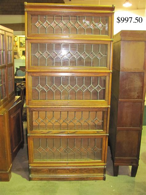 barrister bookcase leaded glass antique oak bookcase with leaded glass doors best home
