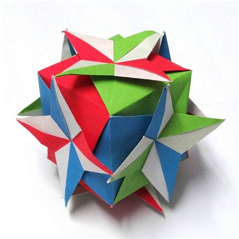Origami Compass - origami compass kusudama by sam amalan designer