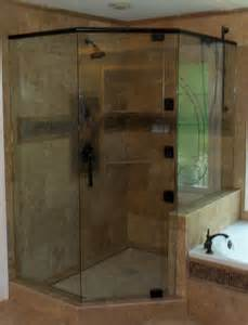 custom neo angle shower doors atlanta glass llc image gallery proview