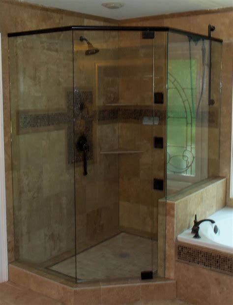 Atlanta Glass Llc Video Image Gallery Proview Custom Neo Angle Shower Doors