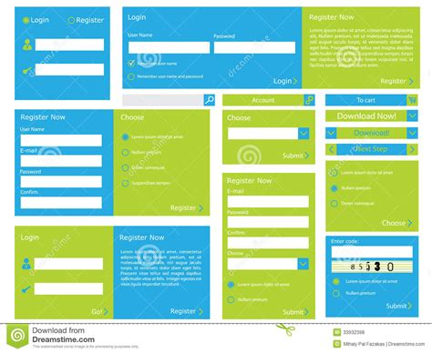 design online forms web form with flat design stock vector illustration of