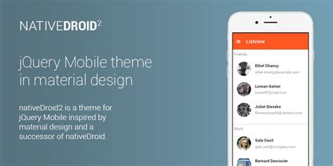 material design menu jquery nativedroid2 jquery mobile theme inspired by material