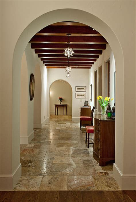 Hacienda Home Decor by Hope Ranch Spanish Style Custom Home Hall Mediterranean