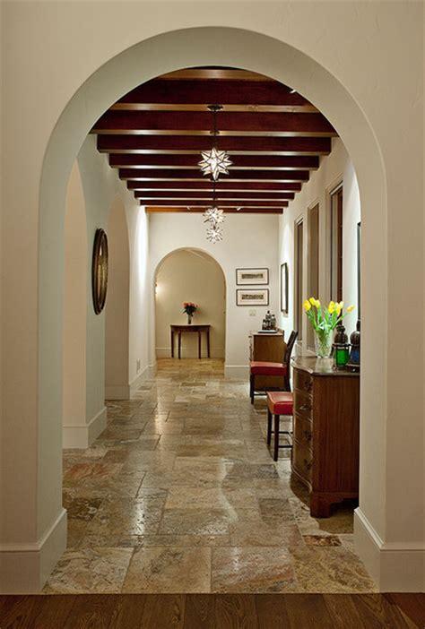 Hope Ranch Spanish Style Custom Home Hall Mediterranean