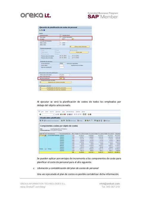 tutorial sap hcm planificacion de costes de personal en sap tutorial sap hcm