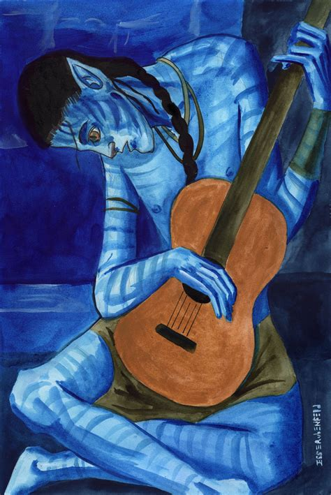 picasso paintings blue period guitar gallery rubenfeld illustrations