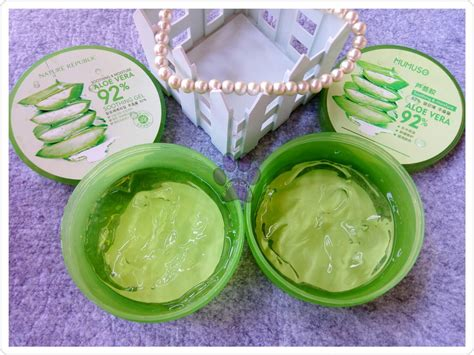 Nature Republic Aloe Vera Soothing Gel Pimples reviews purple canine