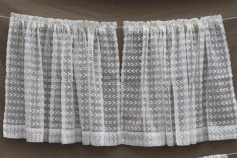 Dotted Swiss Curtains Breezy White Vintage Summer Curtains With Dotted Swiss Look Tufted Sheer Cotton Scrim Fabric