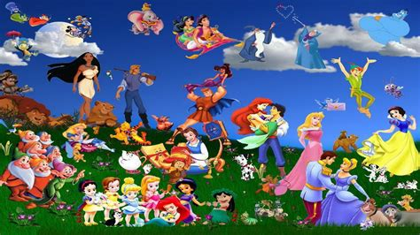 disney wallpaper all characters disney characters walldevil