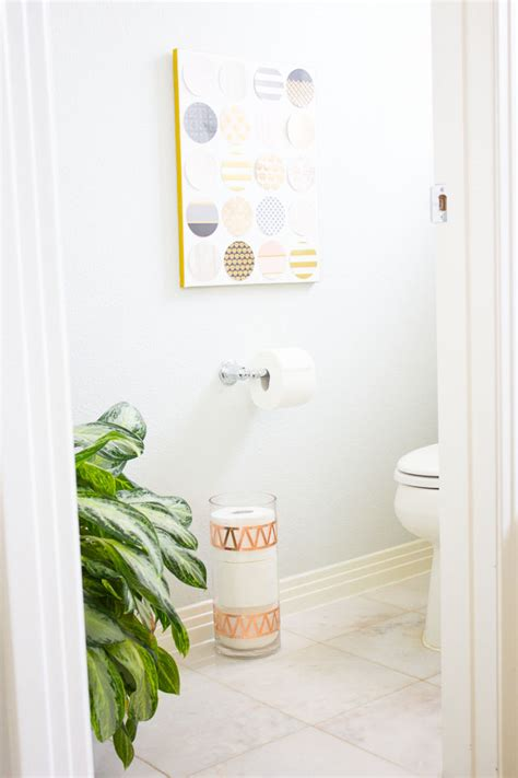 bath tissue storage idea with cottonelle design improvised