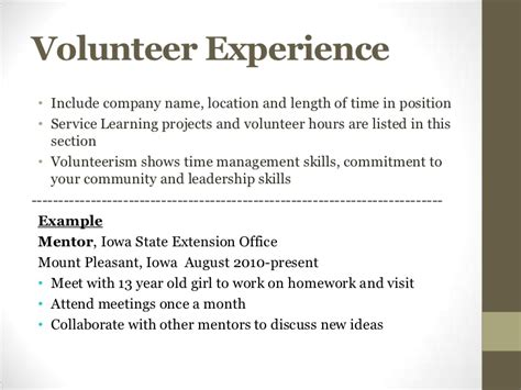 how to explain volunteer work on resume resume ideas