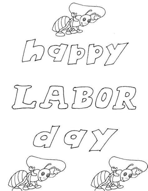 coloring pages of child labour labor day 2014 printable cards for kids children toddler