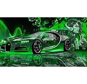 Bugatti Chiron 3D Super Crystal City Graffiti Girl Dogs Street Art Car