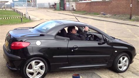 used peugeot 206 cc peugeot 206 cc roof back on youtube