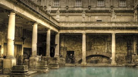 bath house landscape wallpaper 1920x1080