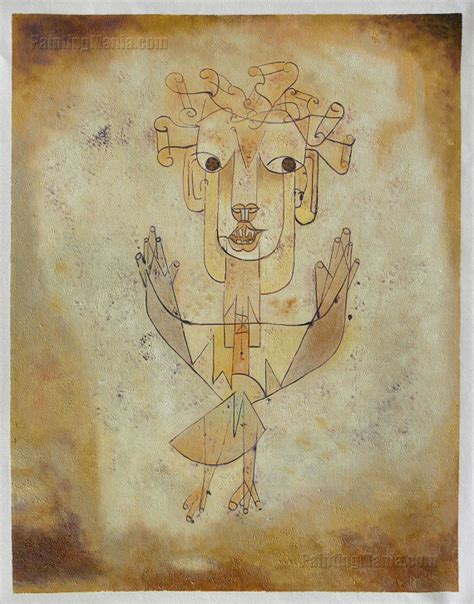 Home Decor Etsy angelus novus the new angel paul klee hand painted oil