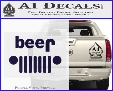 jeep beer decal jeep beer decal sticker purpleemblem logo 100x80