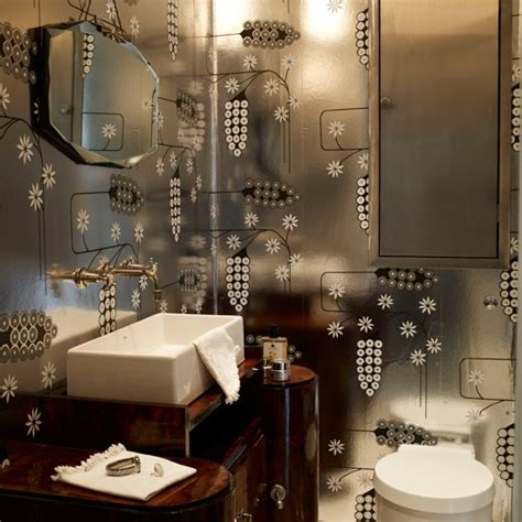 great gatsby bedroom ideas bathroom with silver wallpaper great gatsby design room ideas housetohome co uk