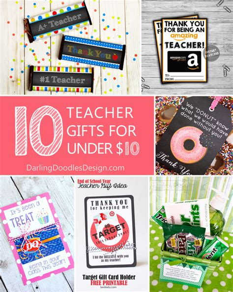 10 Gifts For by 10 Gifts For Teachers For 10 Doodles