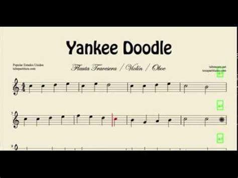free yankee doodle sheet for flute yankee doodle sheet for flute violin and oboe folk