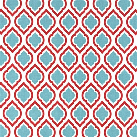 moroccan upholstery curtis carmine red moroccan tile drapery fabric by premier