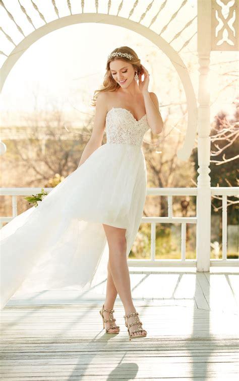 Strapless High Low  Ee  Wedding Ee   Dress Martina Liana Bridal  Ee  Gowns Ee