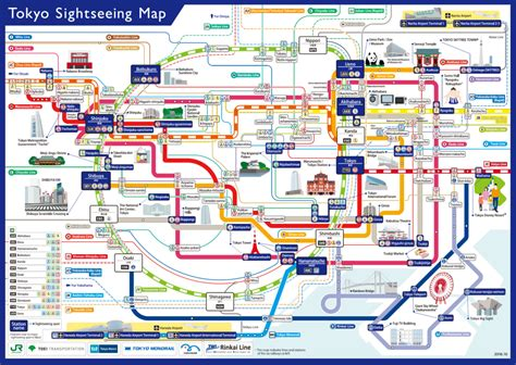 map of for tourists maps update 1148814 tokyo map for tourist six railway