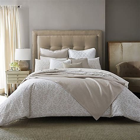 barbara barry feathered floral mini comforter set bed