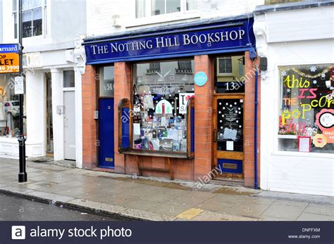 bookstore hill a general view of notting hill bookshop uk stock