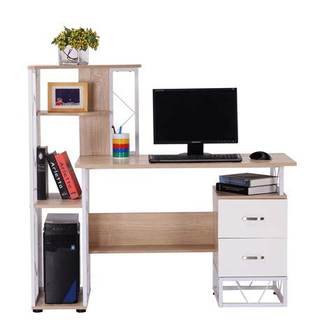bureau d 騁ude b騁on homcom bureau pour ordinateur table meuble pc informatique