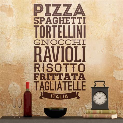 cucina d italia gastronomia d italia stickersmurali