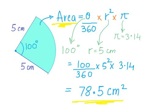 area calculater how to calculate the area of a sector 7 steps wikihow