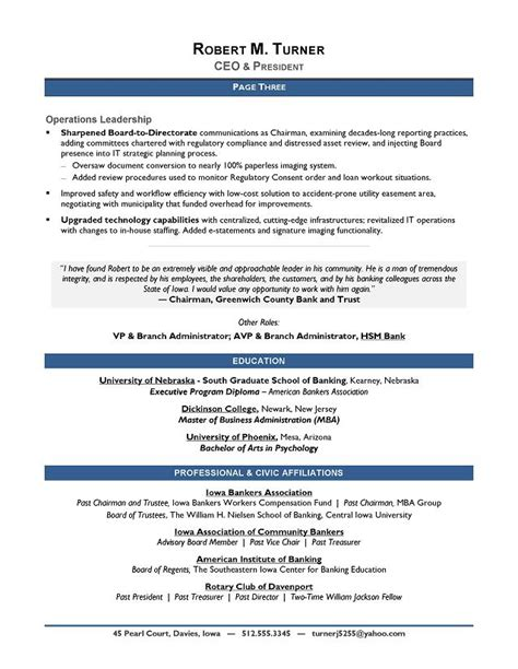 Winning Resume Template by Ceo Resume Templates Award Winning Ceo Sle Resume Ceo Resume Writer Executive Gfyork