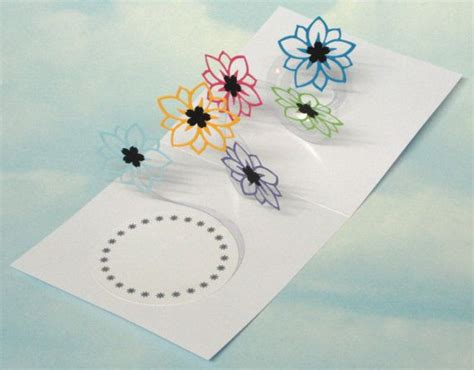 spiral pop up card template free flower card spiral pop up 3d popup card birthday card