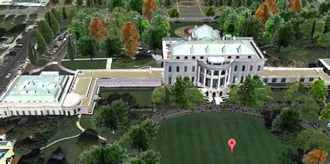 Birds Eye View Map Of House by Animated Birds Eye View Of The White House Washington Dc